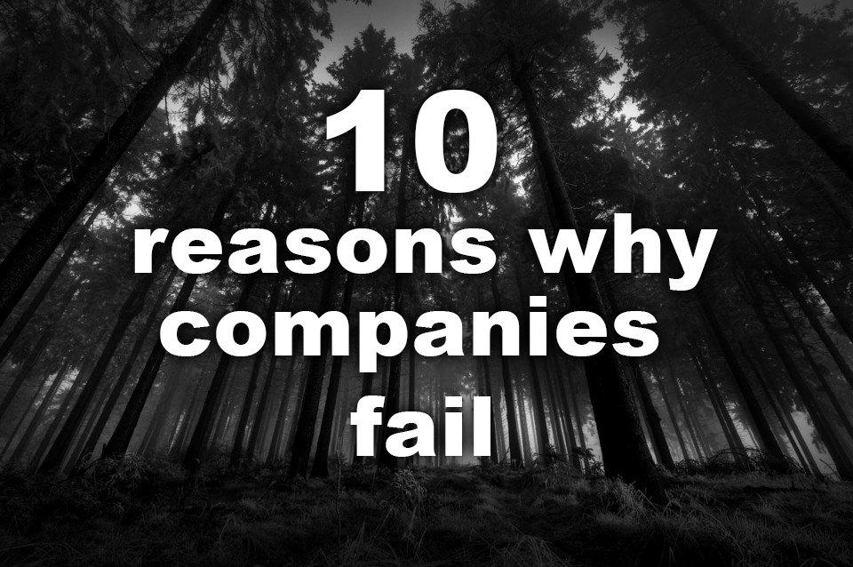 Ten reasons why companies fail.